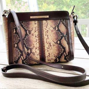 "BRAHMIN 10""x8"" Snakeskin Print Crossbody Bag"